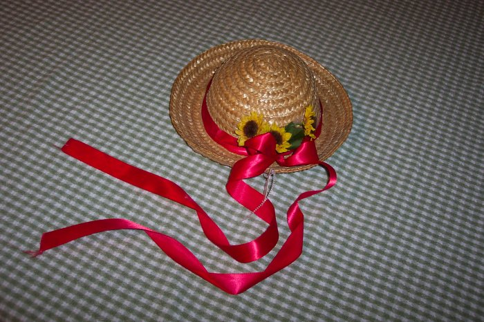 ADORABLE STRAW HAT DECORATION