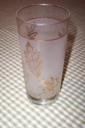 Libbey Gold Leaf Glass Tumbler (4)