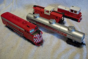 PlayArt Railroad Fire Dept Train Set