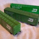 Burlington Northern Boxcars Set of 3