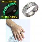 Punk Stainless Steel Luminous Ring