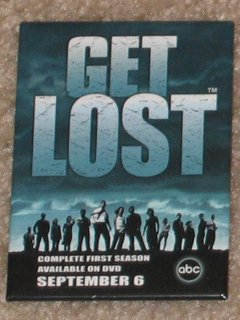 LOST the TV Series DVD Promotional Button / Pin