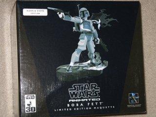 Star Wars Gentle Giant Black & White B&W Boba Fett Maquette