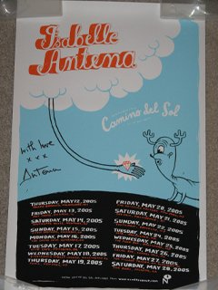 Camino De Sol Poster autographed by Isabelle Antena
