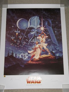 Hildebrandt Brothers Lost Star Wars Lithograph