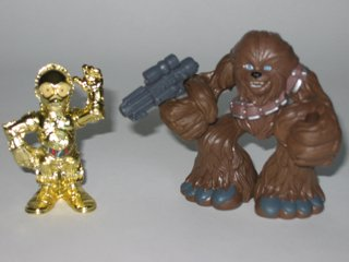 Galactic Heroes C-3PO and Chewbacca Star Wars