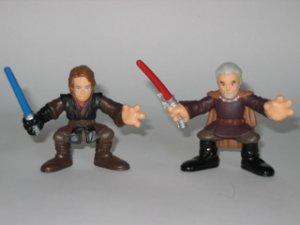 Galactic Heroes Anakin Skywalker and Count Dooku Star Wars