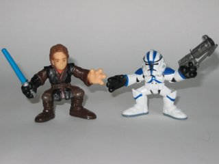 Galactic Heroes Dark Side Anakin Skywalker and Tactical Ops Clone Trooper Star Wars