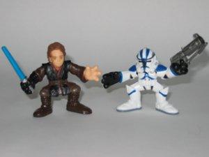 Galactic Heroes Dark Side Anakin Skywalker and Tactical Ops Clone Trooper Star Wars