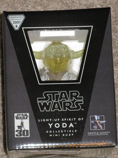 Star Wars Light Up Spirit of Yoda Bust Gentle Giant