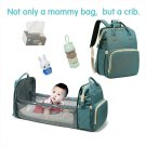 Foldbale Diaper Bag Crib Bag  Mummy Bag 3in1 Traveling Backpack Baby Nappy Bed