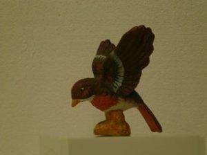 Brown Bird Figurine