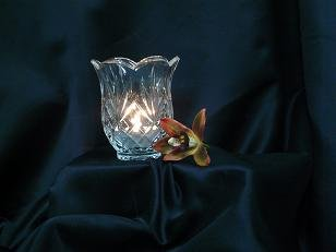 Clear Etched Rounded Votive