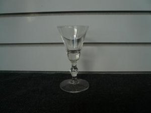 Clear Glass Bulbous Stem Glass