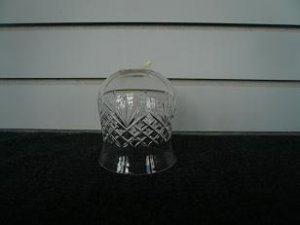 Clear Glass Etched Bell Bottom