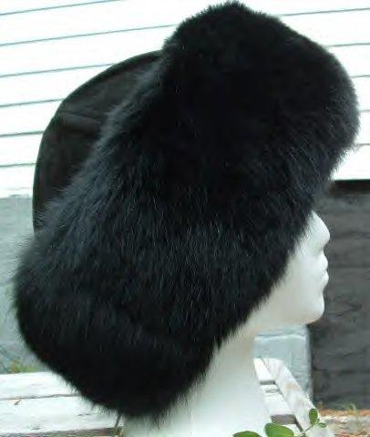 Fox fur cuff hat 8125-brnbrn