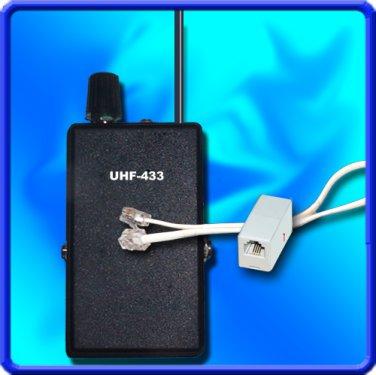 UHF PHONE ADAPTER BUG SPY UHF RECEIVER CRYSTAL CONTROLLED PLL SET