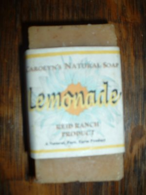 Handmade natural Goat Milk Soap - Lemonade 6 oz. bar