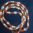 Rudraksh Beads and Skull Skeleton Mala 108 Beads Goddess Kali Mund Necklace