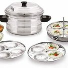 Style OK 4 Plates Stainless Steel Idli Maker / Cooker (4 - Plates 16 Idlis)