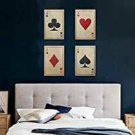 Make in Modern Vintage Playing Cards Wall Decor Hanging Set of 4