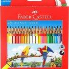 Faber-Castell 48 Colour Pencils Buntstifte(gold & silver + neon colour includes)