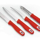 Pigeon Stainless Steel Knife Set (Pack of 4) red fast shipping