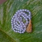 NEW  WHITE PEARL 108 +1 ROUND BEAD  3MM APPROX JAPA MALA FOR PEACE AND BEAUTY