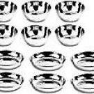 Style OK Stainless Steel Veg Bowl and Sweet Dish Combo Medium Set of 12 Katori V