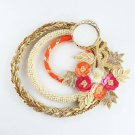 Embroidered Buti on Gota and Moti Rings T-Lite Holder
