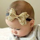 FOK Sparkling Bows Glitter Sequins Hairband Clips for Kids and Girls ( 2 Pcs )