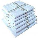 30 × Men 's 100% cotton Handkerchief best Eco-friendly white men's handkerchief