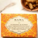 Kama Ayurveda Sustainable Unisex Turmeric Myrrh Skin Brightening Soap 125g