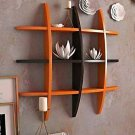 Style OK Mounted Wall Rack (Orange Brown, 5/25/25 inches)