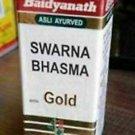 2 x Baidyanath SWARNA/SWARN BHASMA Gold Bhasam 125 mg||  Fast shipping