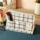 Keep you organized, Cortina White and Blue Printed Handbag Organizer get within