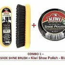 KIWI BLACK SHOE POLISH CREAM, SHINE BRUSH COMBO Fast Shiping WORLDWIDE