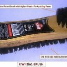 Kiwi 2 In 1 Shoe Polish Brush FOR SHOE POLISHING | Nylon BRUSH) Free Ship