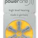 6 × Power One Hearing Aid Batteries SIZE P 10 Free Shipping
