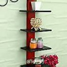 Style OK Wooden Wall Rack Home Decoration Shelves (5 x 8 x 24 inches) Black and