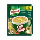 Pack of 10 Knorr Sweet corn Veg Soup, Ready in One Minute ,11gm each