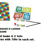 Ludo & Snakes N Ladders Board Game with 2 sets of tokens(1 with game and 1 Free)