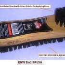 Kiwi 2 In 1 Shoe Polish Brush FOR SHOE POLISHING | Nylon BRUSH) Free Ship