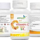AMMUNE Vitamin C-Capsule Supplement with Zinc & Vitamin D3 for Healthy Immune 60 Capsules