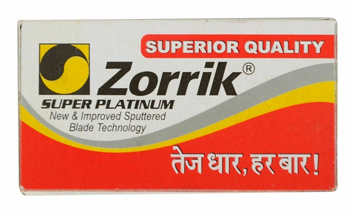 200 x Zorrik Super Platinum BLADES Double Edge Safety Razor Blade 100 % Original