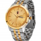 SM MEN'S (DAY & DATE) TWO TONE GOLD WATCH