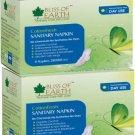 Bliss of Earth 280MM CottonFresh Sanitary Napkin For Light to Heavy Flow (Pack of 2)