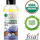 Bliss of Earth certified organic flaxseed oil for hair growth Hair Oil  (100 ml)