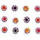 ANAM GOLD Crystal Stone Round  30 Forehead Fancy Bindi Women Multicolor  (Bindi)