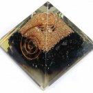 Black Tourmaline Orgone Pyramid Orgonite Pyramid Crystal 5 cm
